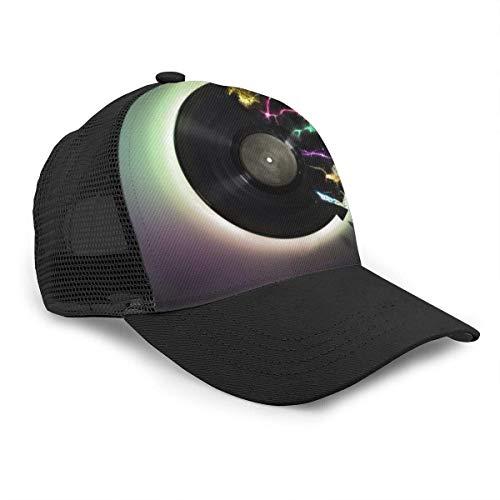 Hgfyef - Gorra de béisbol unisex con diseño de disco de vídeo con...