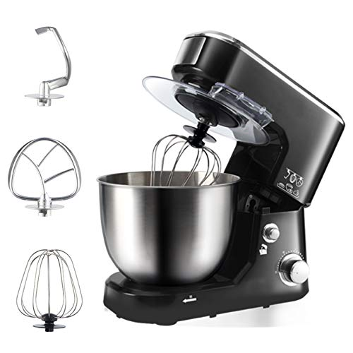 Stand Mixer with 6 Speeds, Removable 5L Stainless Steel Bowl Food Blenders Comes with A Series of Baking Tools Chef's Best Friend (Color : Red)