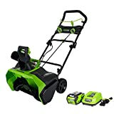 Greenworks 40V 20-Inch Brushless Snow Thrower, 4.0Ah Battery and Charger Included 2600200
