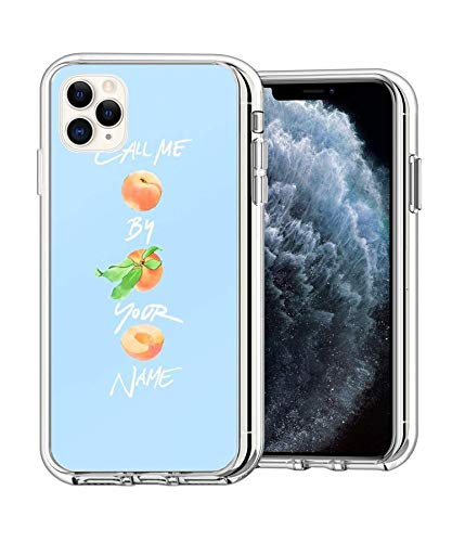 RARILAF iPhone 11 PRO Case Call Me by Your Name - Three Peaches Clear Protective Case with Soft TPU Bumper [Ultra Thin] Case for iPhone 11 PRO (5.8 inch)