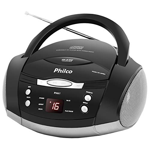 Boombox, PH61 com rádio FM estéreo, 3.4W RMS, Bivolt, Philco