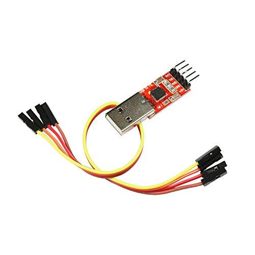 Paradisetronic.com USB-UART-Wandler, Serielle Schnittstelle/TTL zu USB, CP2102 USB Serial Converter für Linux, macOS, Win7, Win8, Win10 (Adapter)