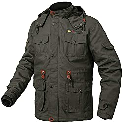 This Parka Jacket with super soft and thick faux fur lined,for best heat retention,which keep you warm and dry during cold weather and wet days. The windproof shell is made of high-density cotton fabric,make the fleece jacket can obstructe the cold a...