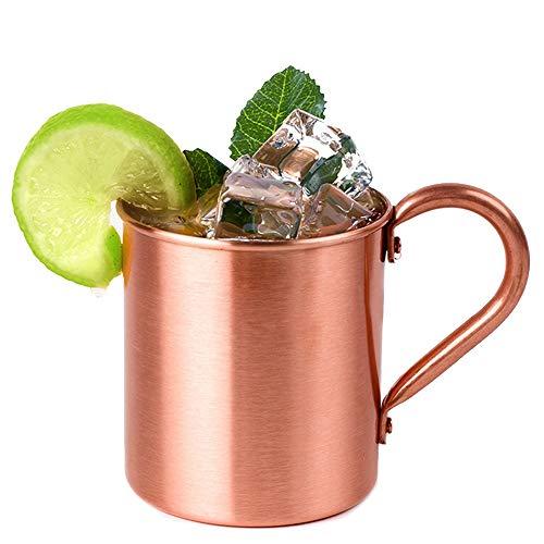 DWZX Becher Behokic Pure Copper 415Ml Becher für gekühltes Bier Eiskaffee Kaffee Teetassen Becher Wodka Gin Rum Tequila Whisky Mixed Drinks Gadget