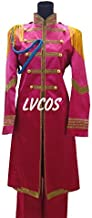 LVCOS SGT. Pepper's Lonely Hearts Club Band Ringo Starr Pink Halloween Long Coat Set Cosplay Costume