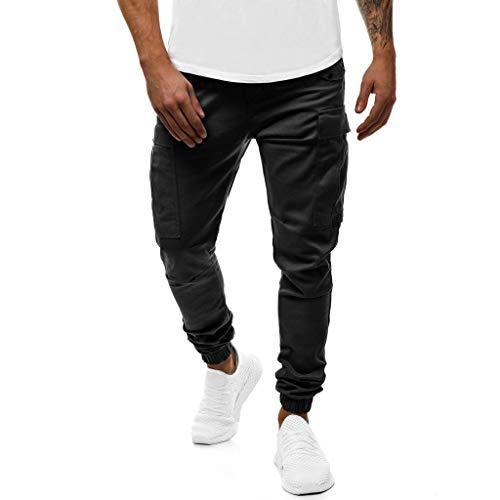 Lomelomme Cargo Hose Männer Lang Sporthose Herren Lang mit Tasche Jeans Hosen für Männer Slim fit Freizeithose Jeanshosen Stretch Jogginghose