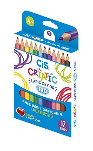 Lápis de cor CIS CRIATIC Jumbo 12 cores