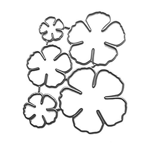 YOFO Fünf Blütenblätter Blume Metallschneidwerkzeuge Schablone Scrapbooking DIY Album Stempel Papierkarte Prägung Dekor Handwerk