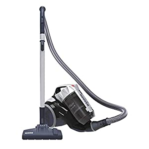 Hoover Khross KS 31 Par 39002170 – Arrastre multiciclónico sin bolsa con cepillo para parqué, 550 W, color gris y negro
