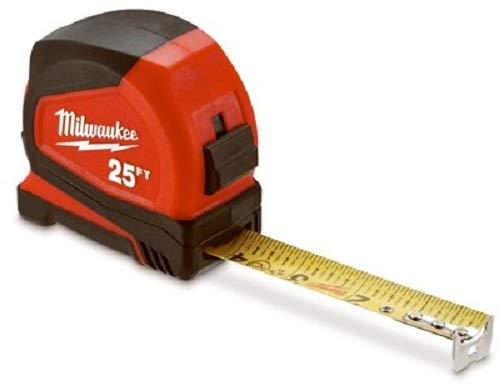 Milwaukee Electric Tool 48-22-6625G Heavy Duty, Compact Measuring Tapes (2 Piece), 25'