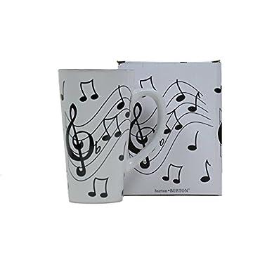 Musical Note Jazz Ceramic Coffee/Tea Travel Mug Treble Clef - 16 Oz