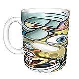 Spongebob divertente tazza 311,8 g in The Face.Brother.Cool regalo di compleanno per colleghi, uomini e donne, lui o lei, sorella-idea per un fidanzato, di Yates and Franco