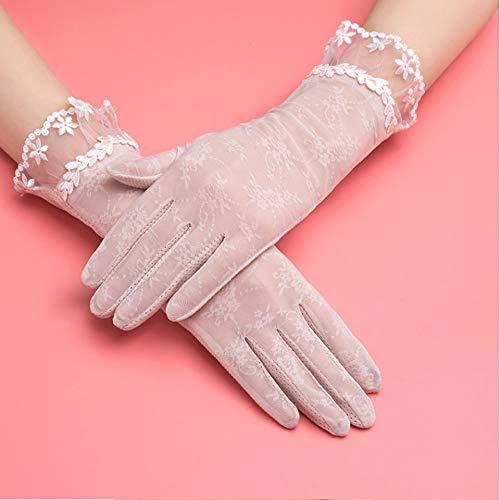 Rebily Protector solar de verano Pantalla táctil transpirable Guantes ultrafinos de dedo...