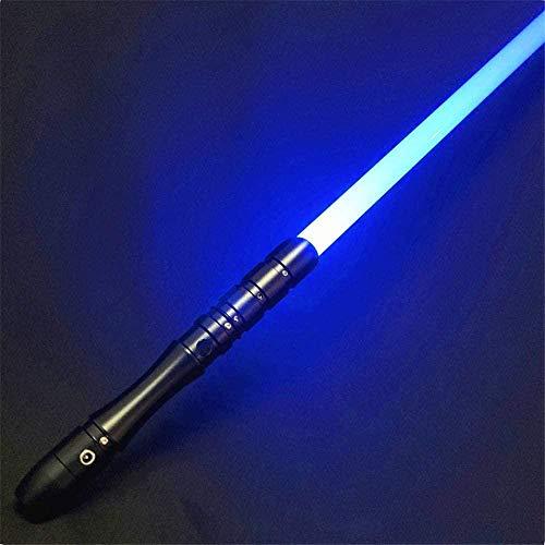 ADIS Saber Studio Lightsable Metal Aluminio Hilt RGB LED Luz Recargable Sable Force FX Heavy Dueling-Negro Hilt (7 pulgadas Blade)
