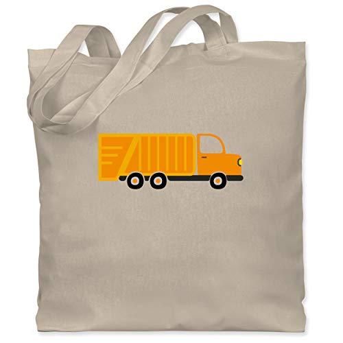 Shirtracer Fahrzeuge Kind - Müllauto - Unisize - Naturweiß - LKW - WM101 - Stoffbeutel aus Baumwolle Jutebeutel lange Henkel