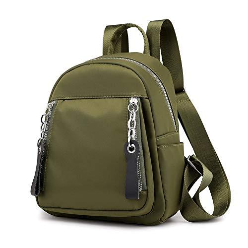 Umhängetasche Rucksack weibliche Fans kleine Tasche Allgleiches Oxford Tuch Mode Persönlichkeit kleines Rucksack Nylon beiläufiger Rucksack Reisetasche Schultasche (Color : Grün)