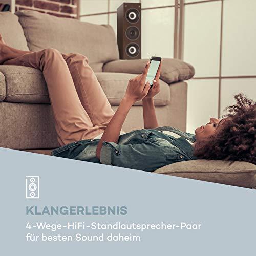 auna Line 4707 Standlautsprecher - 4-Wege-HiFi-Lautsprecher-Paar, HiFi-Anlage, 6,5