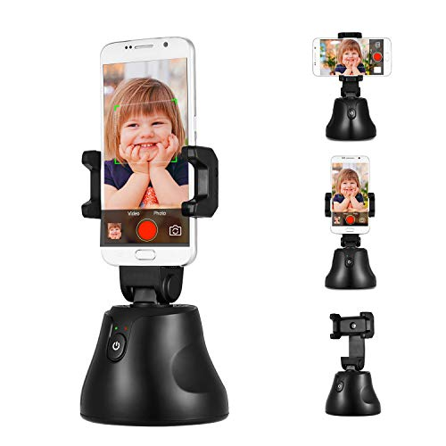 RROWER Tragbare Auto-Tracking-Smart Capture Selfie Sticks, All-In-One Auto Smart Schießen, 360 Umdrehung Auto Face Tracking Objektverfolgung, Kamera-Telefon-Halter