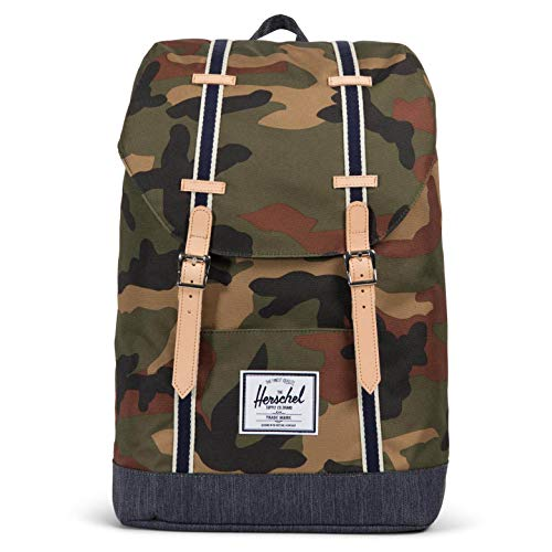 Herschel Retreat rugzak, woodland camo/dark denim, OneSize