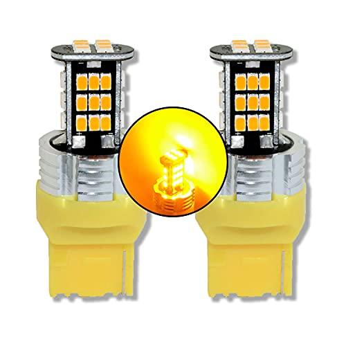 MCK Auto – Ampoules LED T20 CanBus ambre 7440 pour clignotants et feux arrières Golf 6 Polo 6R 6C avant et Mustang - Transformez votre vuiture
