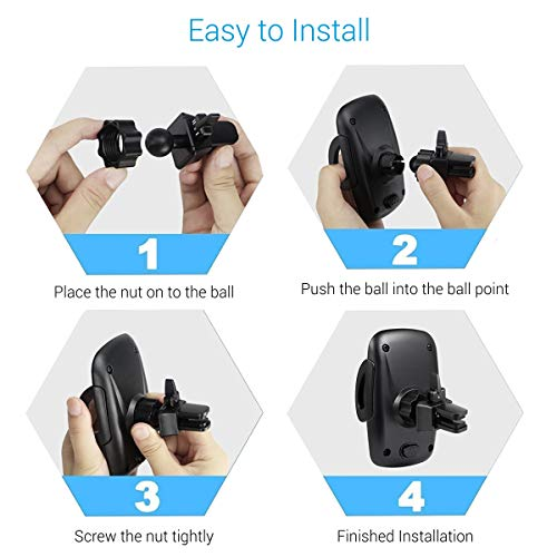 Portronics CLAMP X POR-1101 Car-Vent Mobile Holder with Adjustable Side Arm for Smartphones (Z-Black)