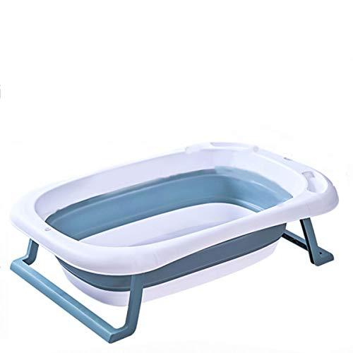 TWW Inicio Bañera Plegable para Bebés Bañera para Bebés con Sensor De Temperatura Bañera Plegable Bañera para Niños Cubo De Baño Bañera Plegable