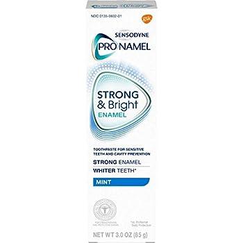 Sensodyne ProNamel Strong & Bright Enamel Toothpaste for Sensitive Teeth Mint - 3 oz Pack of 4
