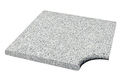 Steinbach Granit Beckenrandstein, Komplettset für Styroporpool 700 x 350 cm, 18 gerade Platten, 4 Eckteile, flache und geflammte Ausführung, Kristallgrau, 018132