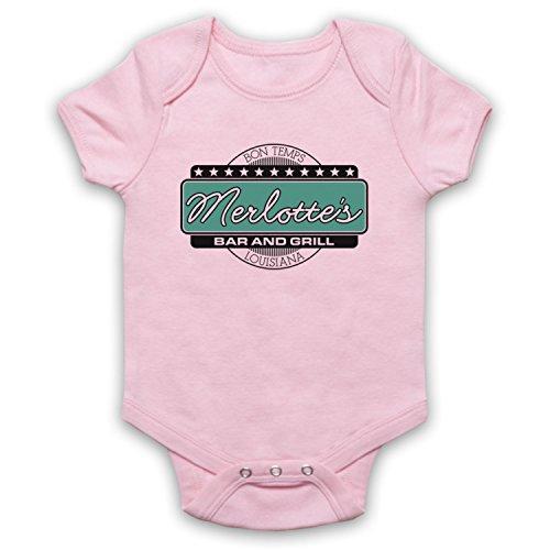 My Icon Art & Clothing True Vampire Merlotte's Bar & Grill Horror TV Babystrampler, Hellrosa, 6-12 Monate