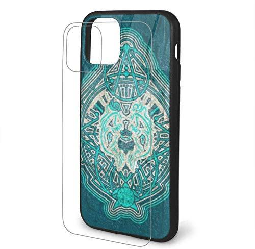 Diseño con símbolo místico Oculto Compatible para iPhone 11 Estuche PC rígido + TPU Suave Protector a Prueba de Golpes Funda Delgada para teléfono Pro Max-iphone11Pro-