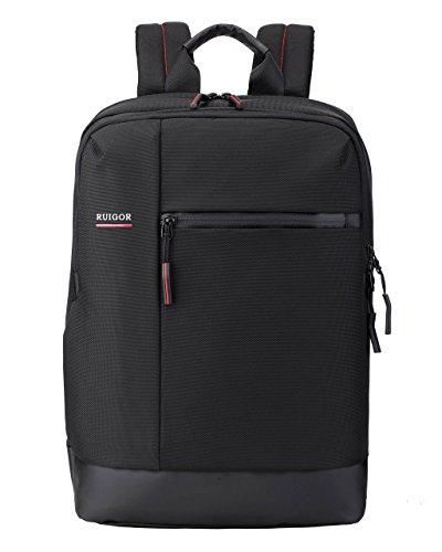Ruigor City 38 - Wasserabweisender Rucksack 14 Zoll Laptop- und Tabletfach 16l, Businessrucksack in schwarz mit sicherem Notebookfach Daypack Herren