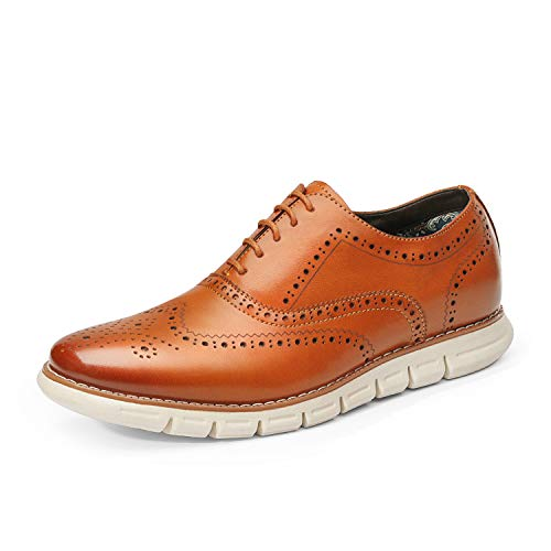 Bruno Marc Men's Dress Sneakers Casual Wingtip Derby Oxford Formal Shoes Brown Size 11 M US GRANDWING