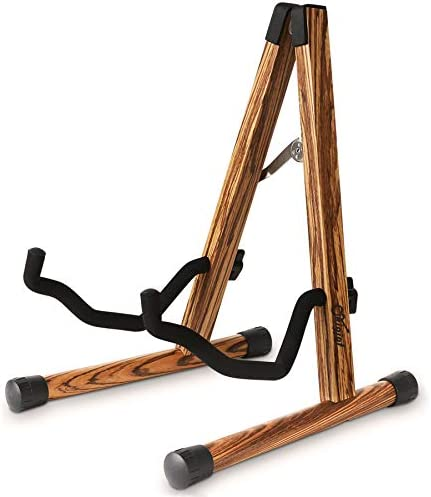Wood Guitar Stand Compact Acoustic Guitar Stand with Padded Foam Classical Electric Guitar Stand product image