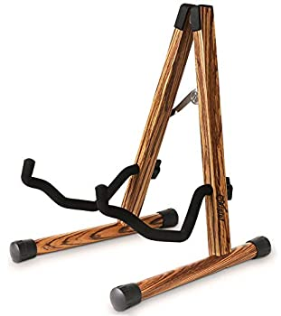 Guitar Stand Acoustic Wooden Guitar Stand with Padded Foam Classical Electric Guitar Stand Compact A-Frame Folding Bass Guitar Display Stand Compatible with Cello Mandolin Bass Banjo Ukulele