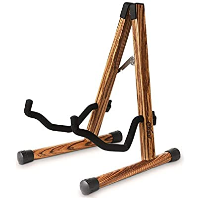 Amazon - Save 50%: Wood Guitar Stand, Compact Acoustic Guitar Stand with Padded Foam,…