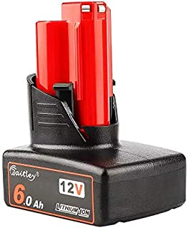 Sponsored Ad – Waitley M12 6.0Ah 12V Replacement Battery for Milwaukee M12 48-11-2411 48-11-2420 48-11-2401 48-11-2402 48-...