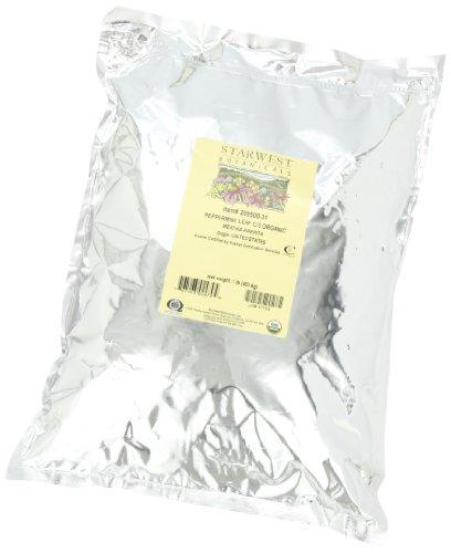 Starwest Botanicals Peppermint Leaf C/S Organic, 1-pound Bag