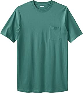 KingSize Men's Big & Tall Shrink-Less Lightweight Longer-Length Crewneck Pocket