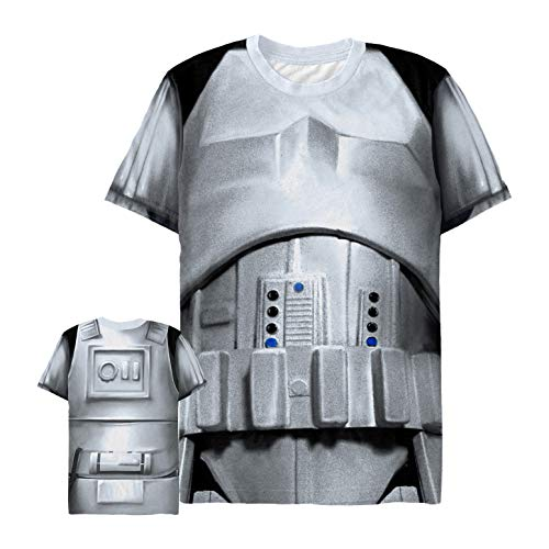 Men's Star Wars Stormtrooper Armor Costume All-Over T-Shirt - Multi-Color - Large
