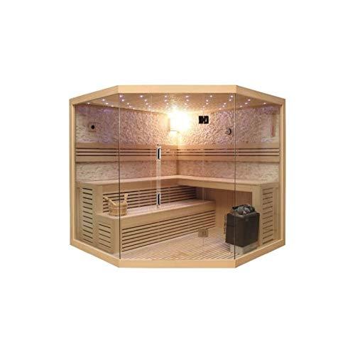Sauna- Kabine (Komplett) Lutèce 200 x 200 x 210 cm (Eckig)