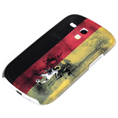 deinPhone AR-230194 Samsung Galaxy S3 Mini World Cup Calcio Retrò Bandiera Germania