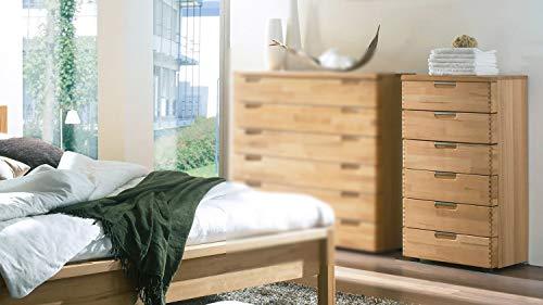 Möbel Akut Kommode Radus 2 Holz Sideboard mit Schubladen Schubkastenkommode Schlafzimmer Kernbuche teilmassiv