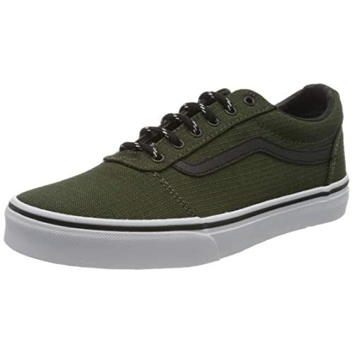 Vans Ward Canvas, Scarpe da Ginnastica, Grigio ((Sport Textile) Grape Leaf/White XZ2), 34.5 EU