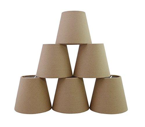 Conjunto de 6 piezas Clamp Pantalla de lámpara para lampara y lampara de pared (Lino de chocolate) / Set of 6 Clip Lamp Shade for Chandelier and wall lamp (Chocolate Linen)