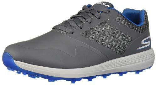 Skechers mens Max Golf Shoe, Charcoal/Blue, 12.5 US