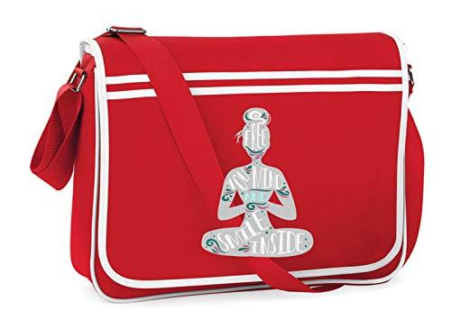 Druckerlebnis24 Schultertasche - Yoga Studio Sport Fitnessclub - Umhängetasche, geeignet für Schule Uni Laptop Arbeit