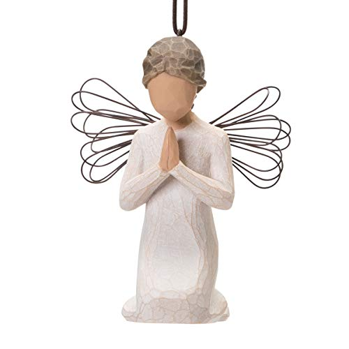 Willow Tree Angel of Prayer Ornament, Sculpted Hand-Painted Figure