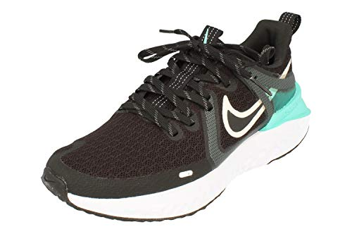 Nike Mujeres Legend React 2 Running Trainers AT1369 Sneakers Zapatos (UK 5 US 7.5 EU 38.5, Black Platinum Tint Hyper Turquoise 010)