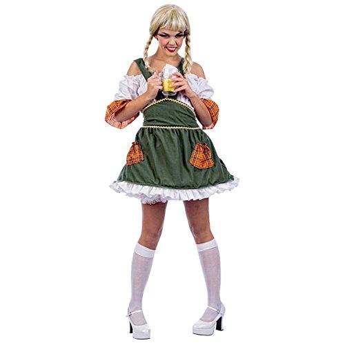 Elbenwald Tiroler Maid Dirndl Kostüm, für Fasching, Karneval, Wiesn, Party - M