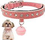YYhkeby Katzenhalsband mit Bell Hundehalsband for Katzen-Welpen-Halsbänder for Katzen-Kätzchen-Katze-Kragen-Haustier-Bleihundeleinen Pet Products-Red_S Jialele (Color : Pink, Size : M)